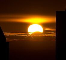 Partial solar eclipse by photogaet