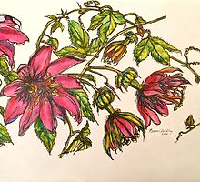 2015 Calendar of pen and washes  by Elizabeth Moore Golding
