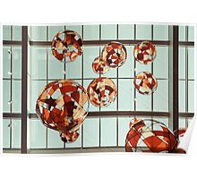Colored Glass Balloons On Ceiling Poster