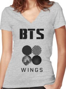 BTS - WINGS Women's Fitted V-Neck T-Shirt