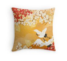 Beautiful kimono of Japan Throw Pillow
