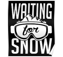 Skiing: Waiting for snow Poster