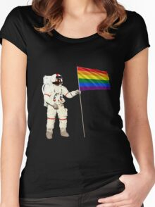 Moon Landing Pride Women's Fitted Scoop T-Shirt