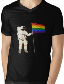 Moon Landing Pride Mens V-Neck T-Shirt
