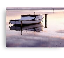 Old Fishing Boat at Sunset Canvas Print