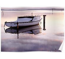 Old Fishing Boat at Sunset Poster