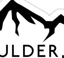 BOULDER COLORADO Ski Skiing Mountain Mountains Skis Silhouette Snowboard Snowboarding Sticker