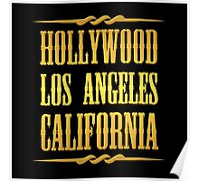 Golden Hollywood Poster