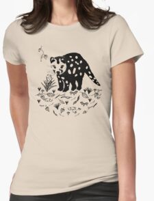 Marsupial Cat - The Spotted Tailed Quoll Womens Fitted T-Shirt