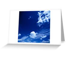 Cloudy Blue Greeting Card