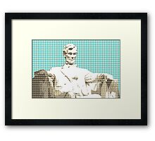 Lincoln Memorial - Light Blue Framed Print