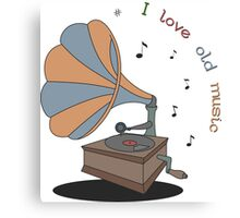 I love old music Canvas Print
