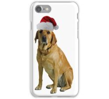 Yellow Lab Santa Claus Merry Christmas iPhone Case/Skin