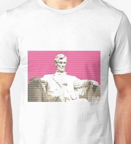 Lincoln Memorial - Pink Unisex T-Shirt