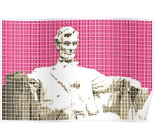 Lincoln Memorial - Pink Poster