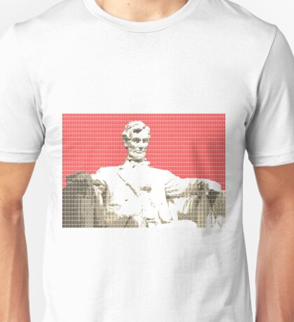 Lincoln Memorial - Red Unisex T-Shirt