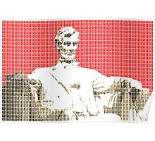 Lincoln Memorial - Red Poster