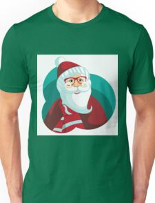 Hipster Santa Claus Cartoon Unisex T-Shirt