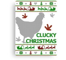 Clucky Christmas Canvas Print