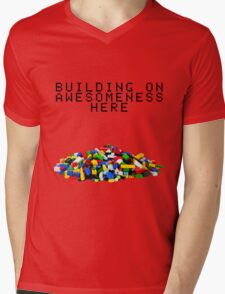 Building on Awesomeness  Mens V-Neck T-Shirt