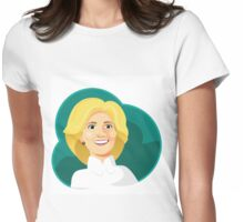 Caricature of Hillary Clinton. Womens Fitted T-Shirt