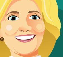 Caricature of Hillary Clinton. Sticker