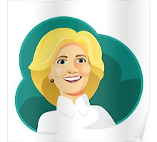 Caricature of Hillary Clinton. Poster