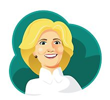 Caricature of Hillary Clinton. Photographic Print