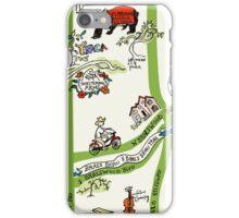 Braeswood Place Souvenir Map, Houston iPhone Case/Skin