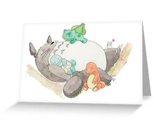 Forest Nap Greeting Card