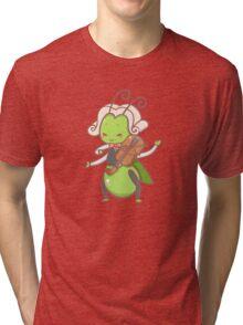 Grasshopper playing violin Tri-blend T-Shirt