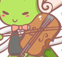 Grasshopper playing violin Sticker