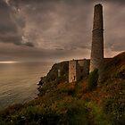Tin mines at Trewavas head Cornwall by eddiej