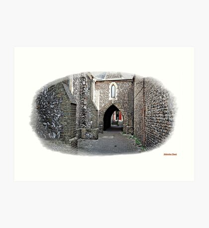 """+"""" A Flint Archway to where ?"""" Art Print"""