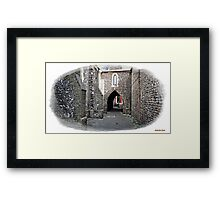 """+"""" A Flint Archway to where ?"""" Framed Print"""
