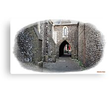 """+"""" A Flint Archway to where ?"""" Canvas Print"""