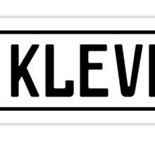 Kleve Kennzeichen Sticker