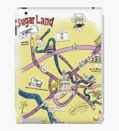 Sugar Land, TX Souvenir Style Map iPad Case/Skin