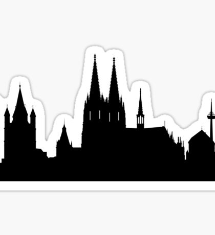 Cologne skyline Sticker