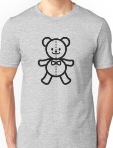Teddy bear in black and white Unisex T-Shirt