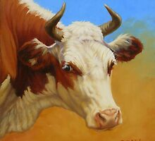 Cow Portrait by Margaret Stockdale