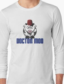 Doctor moo- Fez Long Sleeve T-Shirt