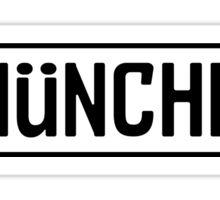 München Kennzeichen Sticker