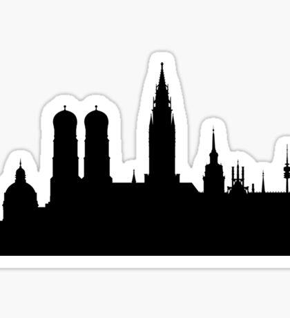 Munich skyline Sticker
