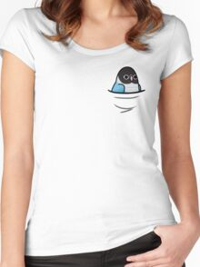 Too Many Birds! - Blue Lovebird Women's Fitted Scoop T-Shirt