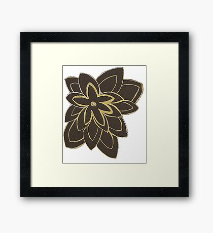 Styled Flower Framed Print