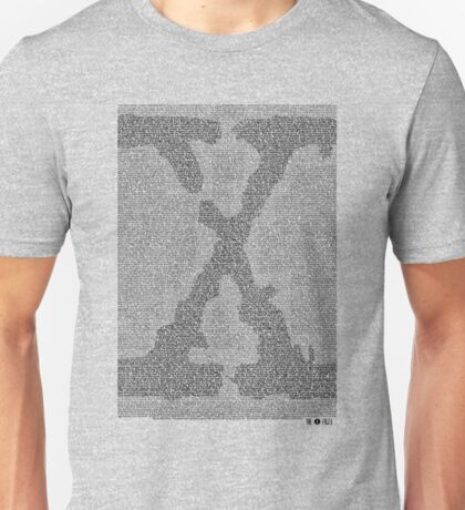 The X-Files Pilot Script - Black Unisex T-Shirt
