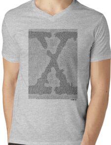 The X-Files Pilot Script - Black Mens V-Neck T-Shirt