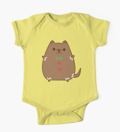 Cute Christmas Gingerbread Pupsheen One Piece - Short Sleeve