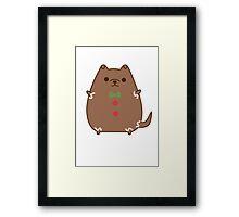Cute Christmas Gingerbread Pupsheen Framed Print